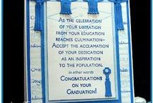 Handmade Graduation Cards / Handmade cards celebrating a graduation that caught Polished Moxie's attention for all sorts of reasons. #HandmadeCard, #HomemadeCard, #HandcraftedCard, #Card, #CardIdea, #Graduation, #GraduationCard, #HandmadeGraduationCard
