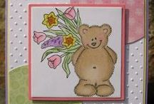 Handmade Teddy Bear Cards / In memory of my Mom who loved & collected teddy bears of all kinds. #HandmadeCard, #HomemadeCard, #HandcraftedCard, #Card, #CardIdea, #TeddyBear, #Bear, #TeddyBearCard, #BearCard, #HandmadeTeddyBearCard, #HandmadeBearCard