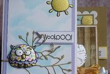 Handmade Owl Cards / Handmade owl cards that remind me of Mom who could watch nesting hooters for hours. #HandmadeCard, #HomemadeCard, #HandcraftedCard, #Card, #CardIdea, #Owl, #OwlCard, #HandmadeOwlCard, #Hooter, #HooterCard, #HandmadeHooterCard