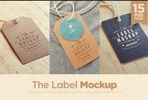 Mockups   Labels, Stickers + Stamps / PSD mockups of stickers, labels and stamps