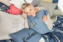 ED Ellen DeGeneres / Introducing the ED Ellen DeGeneres collection, available exclusively at Bed Bath & Beyond. Explore the beautifully designed, high quality collection in warm colors with expressive sayings.