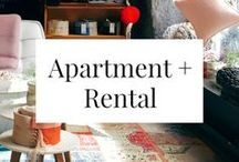 APARTMENT + RENTAL / Cute decorating ideas, non-permanent enhancements, and other tips for apartment and rental spaces.