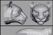 3D / 3D / low poly  / by Daniela Morena