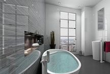 Modern Bathroom Ideas / A collection of inspired modern bathrooms to help you visualize your own project.