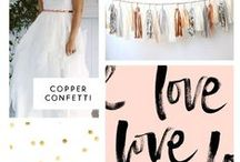 A COPPER WEDDING / Wedding ideas and inspiration for a copper, rose gold or metallic  themed wedding