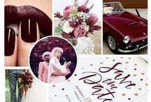 MARSALA WEDDING / Marsala / Burgundy / Maroon wedding inspiration