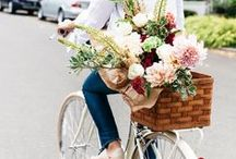 Bicycles & Flowers / Yes, it's a thing! Ring around the roses...Bikes and Blooms! We are Chicago Bicycle Company http://www.chicagobicyclecompany.com