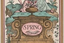 """Printemps / """"Spring has come again. The Earth is like a child who knows poems.""""--Rainer Maria Rilke"""