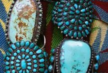 Turquoise and The Southwest / Santa Fe - Turquoise Indian Jewelry, pottery, baskets, rugs and Fashion / by Becky Joyce