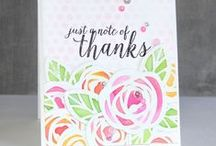 Essentials by Ellen: Thank You / Make sure you check out our other Essentials by Ellen pin boards. Each board is organized by occasion and celebrates the creative ways people have used our Essentials by Ellen stamps and dies! / by Ellen Hutson LLC