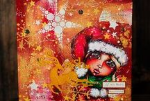 Christmas DIY / Christmas art, card and decorations.  DIY!  You can do it!