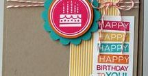 Birthday Projects / Birthday cards for everyone on your list!