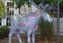 bennington moose festival / this fun, free public art display features dozens of unique moose on the loose in and around Bennington, Vermont / by ✿*゚゚・✿.。*   brenda *.。✿*゚゚・✿