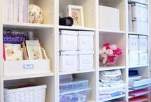 crafty spaces and organization / by Pam Butler
