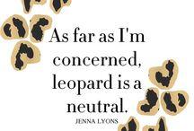 Leopard print is a neutral.