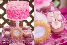 Juicy Couture Baby Shower / A Gold and Pink Juicy Couture inspired baby shower. Featured on HWTM and Baby Center! Planning + Styling: Miriam Corona Events Photography: Rebekah Meredith Cake Stands: Minted and Vintage Cakes: Nicole Bakes Cakes / by Miriam Corona Events