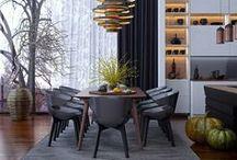 Modern Dining Room Inspiration / Mid Century Modern Furniture   Affordable   Designer inspired   Modern Dining Rooms - mfkto.com