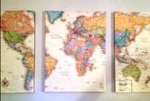 Decorating with Maps / by Carolyn Hanson