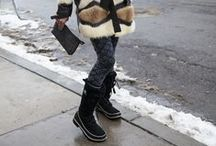 Fall/Winter #SORELfestivalstyle / We're always looking for Festival Style inspiration from the snowy streets of Park City.
