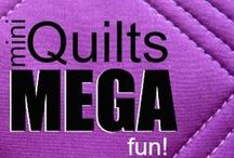 Mini Quilt Mania / Don't let their size fool you! Mini quilts can be MEGA FUN!  Check out all of these fresh ideas to keep you inspired.  / by Heather Valentine