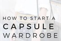 capsule wardrobe / inspiration to declutter your closet and start your own capsule wardrobe, outfit ideas, capsule wardrobe examples