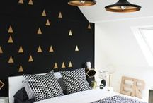 A Room for Gracie / Ideas for a teenage girls room....black & white, a little bit traditional, a little bit bohemian, a little bit modern.
