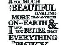 words / by Liza Bernabeo