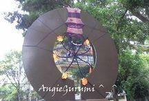 Yarnbombing México DF ^_^ / Intento de Yarnbombin en un parque de la ciudad de México.