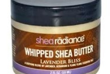 shea Radiance  / A Soothing Blend of Lavender, Geranium & Ylang Ylang Essential Oils Our raw Shea Butter comes directly from women-run cooperative in West Africa. This assures us a source of high quality Shea Butter while providing fair wages and empowering women producers. Our whipped shea butter is a velvety mix more than 50% unrefined shea butter blended with luxurious oils to nourish and nurture your skin.