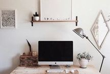 Workspace / workspace, office space, office design, work room design, diy work room, diy office, organization, inspiration for office