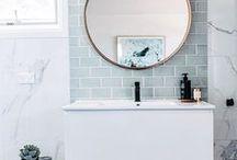 Bathroom Renovation / bathroom renovation ideas, bathroom idea, small bathroom, sink, subway tile, hexagon tile, white bathroom, minimalist bathroom, clean bathroom design