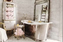 BATHE' IN STYLE / BATHROOM, POTTIES, SHOWERS, FIXTURES, DECOR, INSPIRATIONAL UNIQUE IDEAS, RUSTIC, ULTRA MODERN, FRENCH, ITALIAN, CHIC, VINTAGE,  FROU FROU FAB~ / by Renee Huddleston