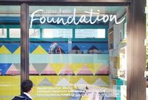 Cécile & Boyd Foundation / Through using our design knowledge and experience, as well as the psychological and therapeutic qualities of colour, pattern and texture our aim is to uplift children through the creation of 'safe' spaces with the hope of re-engaging children into their schools and society and promote creativity. http://www.cecileandboyds.com/foundation/ / by Cecile and Boyd