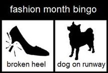 fashion week bingo / be on the look out for these: https://www.pinterest.com/pin/136093219965729544/ (eg: dogs on runways, peplums, runway wipeouts, protesters, go-pros on a stick etc. please tweet @rozfashionista to be invited to pin.