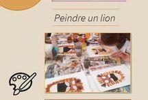 Activités pour enfants - Safari / Speak English Kids vous propose différentes activités réalisées par des enfants durant un stage en anglais organisé pendant les vacances, dans le but de pouvoir les reproduire chez vous ! Ce tableau a pour thème le Safari.