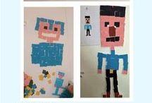 Activités pour enfants - Jeux Vidéos / Speak English Kids vous propose différentes activités réalisées par des enfants durant un stage en anglais organisé pendant les vacances, dans le but de pouvoir les reproduire chez vous ! Ce tableau a pour thème les jeux vidéos.