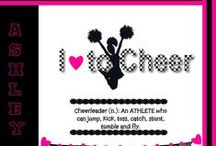 cheerleading stuff / by Michelle Vitale