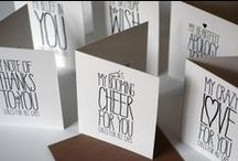 Sky of Blue Cards - Everyday Occasions Cards / Chic. Fun. Whimsical. Luxurious letterpress greeting cards for everyday occasions from Sky of Blue Cards.