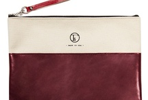 POPPY / Spring/Summer 2013 Collection : ALICE Knapsack - Traveler's Clutch : Burgandy Leather : Natural Canvas : Garnet Leather Wristlet / by Fleabags LLC