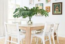 dining room design / These dining room design ideas will have you inspired to create the dining space of your dreams. There's something for every style, including dining room furniture, light fixtures, paint colours and much, much more!