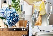 tabletop decor / Gather tabletop decor ideas to create a beautiful table setting for any occasion.