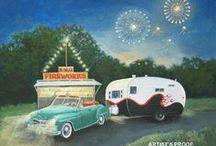 Campers / I love vintage campers!  / by Tresa Horner