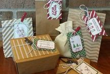 Stampin' Up gifts and wrapping