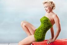 Marilyn Monroe in Swimsuit  / Marilyn Monroe in swimsuit or some outfit similar to a bathing suit.  / by Tresa Horner