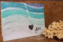 Stampin' Up Clean and Simple / This board only contains what I consider to be clean and simple DIY cards from Stampin' Up. these cards feature simple layering, some embellishments, but have such a striking design that are still equally fabulous!