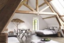 Attic home decor / Beautiful spaces and rooms to regenerate, meditate and recharge your batteries.