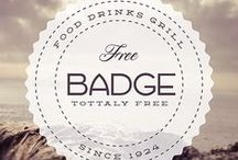 FREEBIES | Badges / STOCK.  FREE STUFF