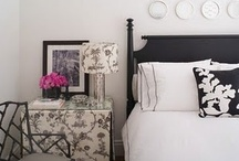black + white bedrooms / by pinning spinster