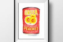 ETSY SHOP-Laura K Aiken / Quirky Watercolor Designs with a Southern Accent  http://www.etsy.com/shop/laurakaiken.com