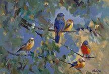 Birds / Birds, Birds, Birds. I love painting birds.